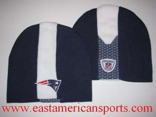 New England Patriots NFL Reebok Sideline Hat Knit Cap Winter Skunk