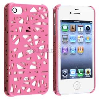 Pink Bird Nest Hard Case+PRIVACY FILTER for Sprint Verizon AT&T iPhone