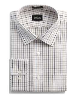 No Iron Check Dress Shirt, Brown