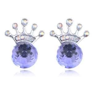 Aurora Borealis Tone Royal Globules Swarovski Crystal Element Earrings