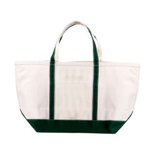 NWT LARGE COTTON HEAVY DUTY CANVAS BOAT TOTE BAG GREEN