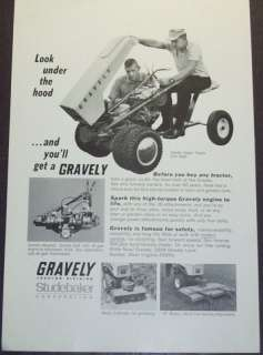 1966 GRAVELY SUPER TRACTOR LAWN MOWER AD DECO ART