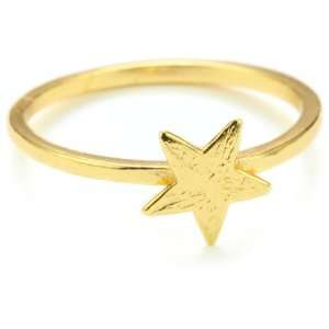 gorjana Star Gold Tone Ring, Size 7 Jewelry