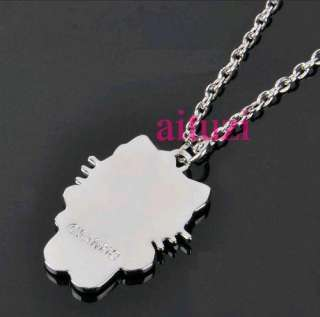 kitty crystal pendant necklace pink BOW full body best gift n19
