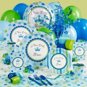 A New Little Prince Baby Shower Deluxe Party Pack for 16