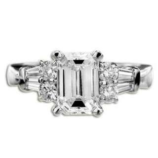 1.17 ct F VS1 Emerald Cut Diamond Engagement Ring Samuel David