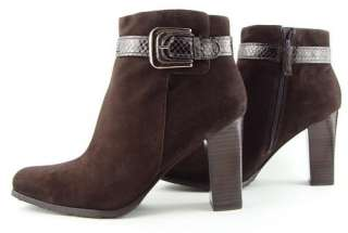 265 VIA SPIGA GURI Brown Suede Buckle Womens Shoes Ankle Boots 9 M