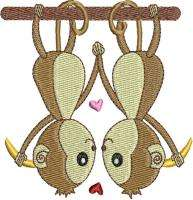 Valentine Love Animals Machine Embroidery Designs CD