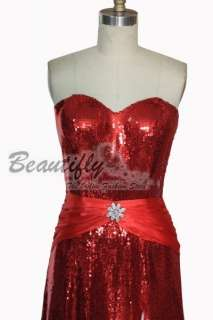 Sexy Red Sequins Split Halloween Ball Party Dress