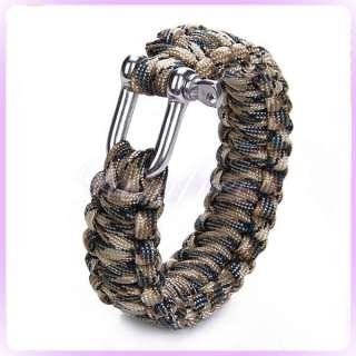 Survival Bracelet U Steel Shackle Army Military Rescue