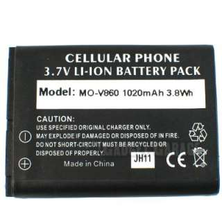 Replacement Battery + Charger For Motorola Barrage V860
