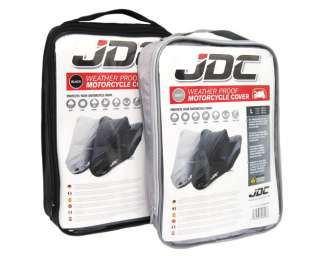 JDC MOTORCYCLE Cover Black 100% WATERPROOF XL