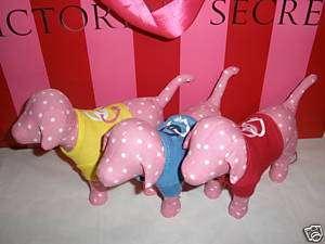 Victorias Secret 2009 Love Pink Dog Peace/Heart x3 NWT