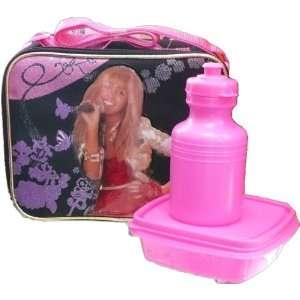 Hannah Montana Black and Hot Pink lunch bag with bonus