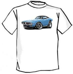 1973 74 Dodge Charger Muscle Car Cartoon Tshirt FREE