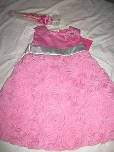 NEW GIRLS HELLO KITTY ROSES FLOWERS DRESS SET 2T 3T 4 5 6