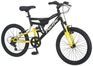 Pacific 20 Boys Chromium Bicycle Dual Suspension Mountain Bike