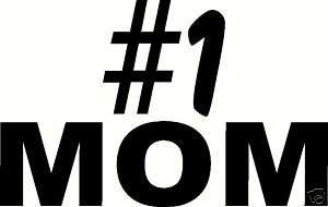 MOM Best Mom Car/Truck RV Magnetic Bumper Sticker