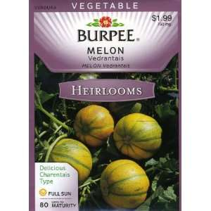 Burpee 51649 Heirloom Melon Vedrantais Seed Packet Patio