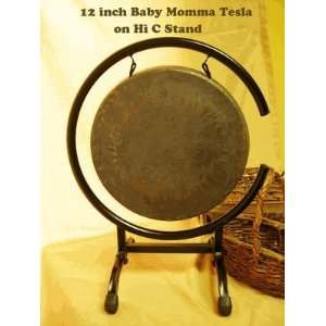 12 Baby Mama Tesla Gong on High C Stand: Musical