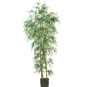 Real Looking 6 Fancy Style Slim Bamboo Silk Tree Green Colors   Silk