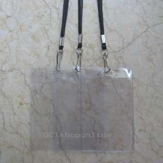 100 X Strap lanyard & Business ID Card Badge Holder MMM