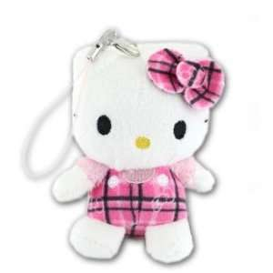 Hello Kitty Tartan Check Costume Plush Doll Cell Phone