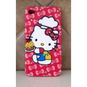 hello kitty iphone 4g case w/ ipad case set of 2 cupcake baker kitty