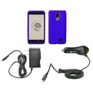 LG Spectrum (Verizon) Premium Combo Pack   Blue Rubberized