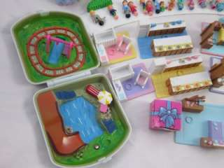 Polly Pocket 29 Mini Figures + pets house compacts horse & more