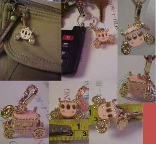 EDIITION MG 18KGP PREMIER CHIC STAGE COACH DESIGN KEYCHAIN PURSE CHARM
