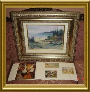 Eugène Duteurtre ,2 Signatures impressionist Oil Painting
