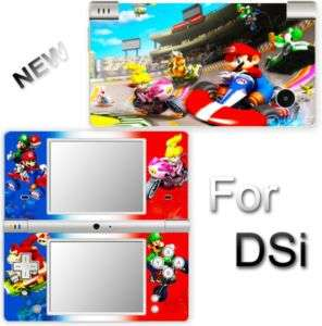 SUPER MARIO KART SKIN COVER STICKER for NINTENDO DSi 2