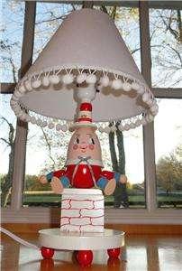 ~Nursery~Rhyme~Kid~Baby~Wood~Wooden~Red~Blue~Humpty Dumpty~Lamp~Light