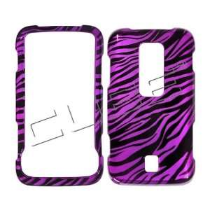 Huawei M860 Ascend  Transparent Black Hot Pink Zebra Skin Design Cover
