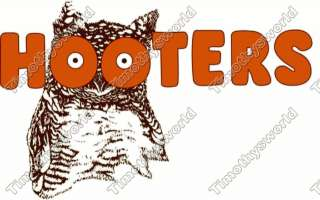 Hooters Logo T  Shirt Iron on transfer #1