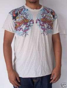 Japanese Devil Ed Tattoo Kabuki Mask T shirt Tee Sz L