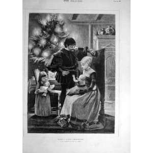 1881 Baby First Christmas Family Child Weeks Fine Art