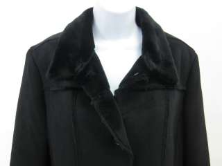 MARC NEW YORK ANDREW MARC Black Faux Shearling Coat XL