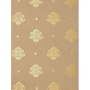 Schumacher Sch 5005354 Mayla Damask   Gilt Wallpaper