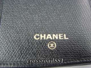 Chanel Black Caviar Skin Leather Wallet Very Good Condition