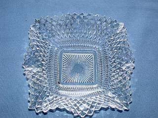 is for a Depression Indiana Glass Co. Diamond Point Crystal Bowl