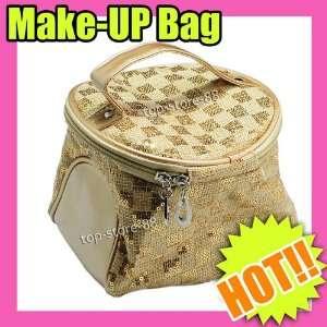 nail art Makeup Cosmetic girls purse Bag set Gold 199