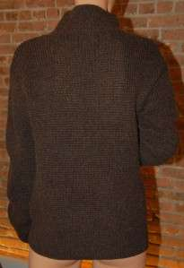 Hermes Knit Chunky Brown Cashmere Turtleneck Sweater 38 4 S