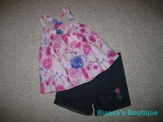 NEW Wildflower Field Shorts Girls Summer Clothes 24m