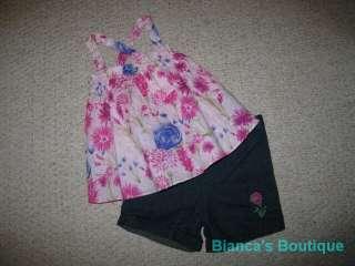 NEW Wildflower Field Shorts Girls Summer Clothes 24m