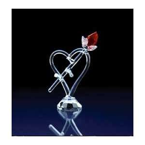 A Rose From the Heart Glass Figurine #29390 Everything