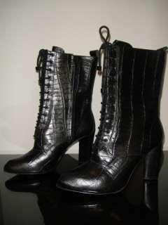 POUR LA VICTOIRE Croc Lace up Jeana Boots 8 8.5 9 $345