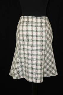 New ANN TAYLOR LOFT Ivory Tweed TULIP SKIRT dress M 8