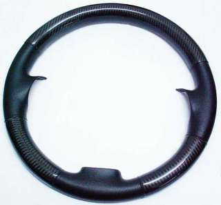 VW REAL LEATHER CARBON STEERING WHEEL COVER FOR JETTA